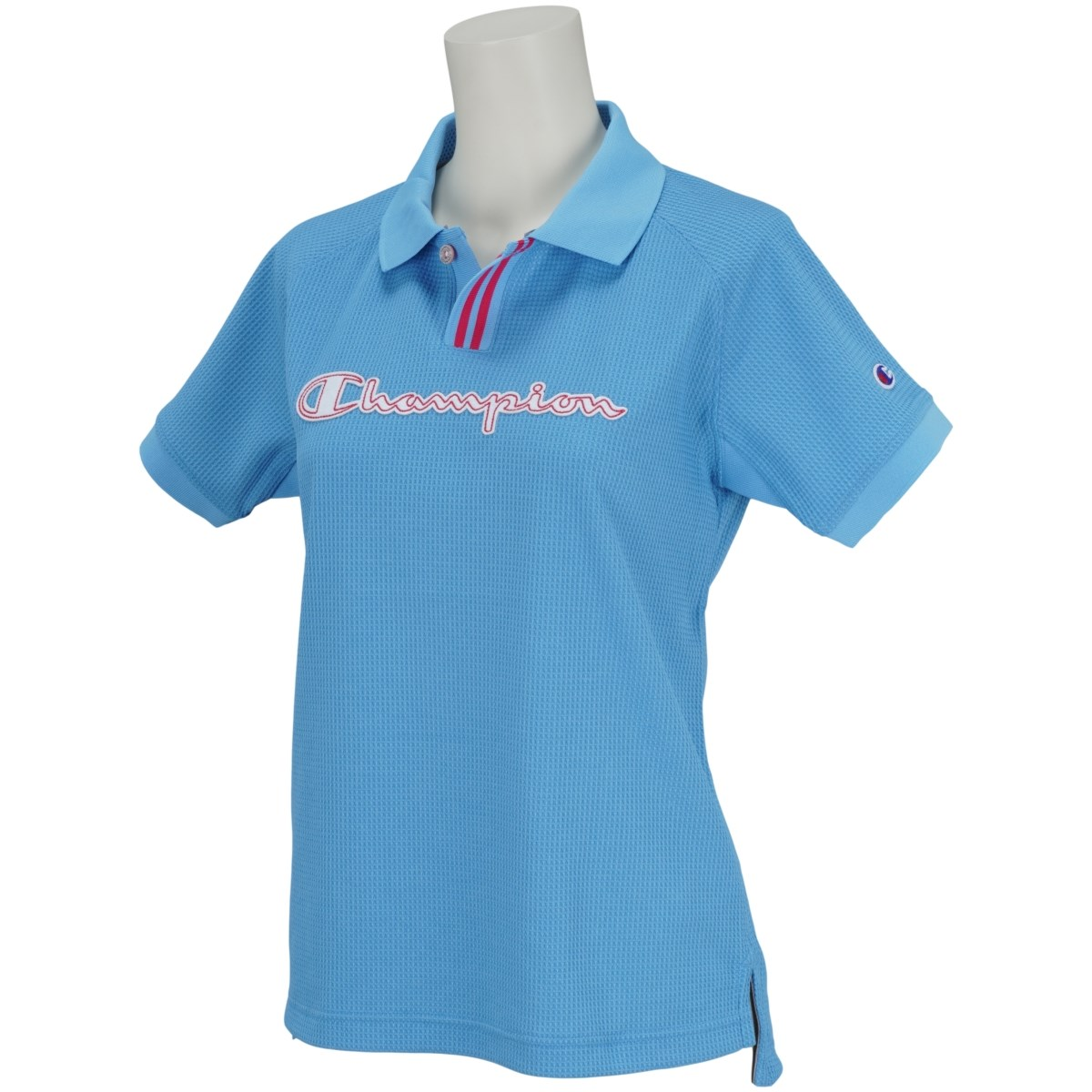 チャンピオンゴルフ Champion GOLF ストレッチワッフル 半袖ポロシャツ L ブルー 340 レディス