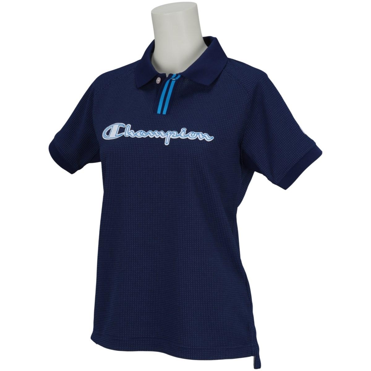 チャンピオンゴルフ Champion GOLF ストレッチワッフル 半袖ポロシャツ M ネイビー 370 レディス