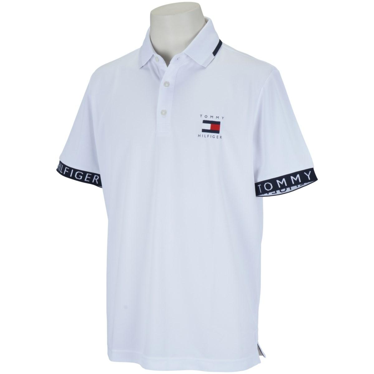 トミー ヒルフィガー ゴルフ TOMMY HILFIGER GOLF トミーフラッグ ヒルフィガー半袖ポロシャツ M ホワイト 00