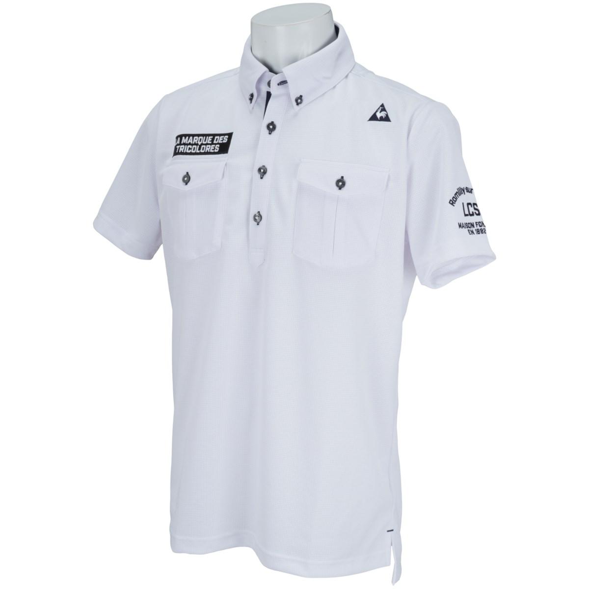 ルコックゴルフ Le coq sportif GOLF サンスクリーン半袖ポロシャツ L ホワイト 00