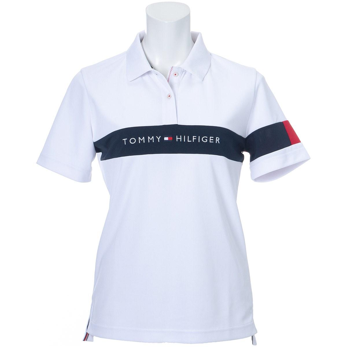 トミー ヒルフィガー ゴルフ TOMMY HILFIGER GOLF TOMMYロゴ 半袖ポロシャツ S ホワイト レディス