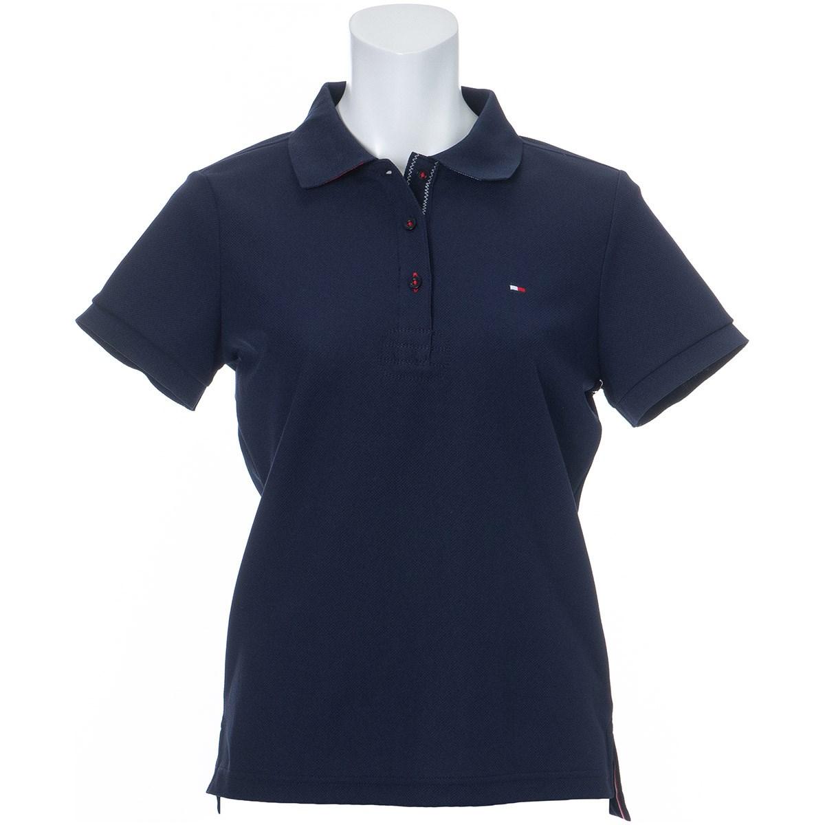 トミー ヒルフィガー ゴルフ TOMMY HILFIGER GOLF ベーシックフラッグ 半袖ポロシャツ M ネイビー レディス