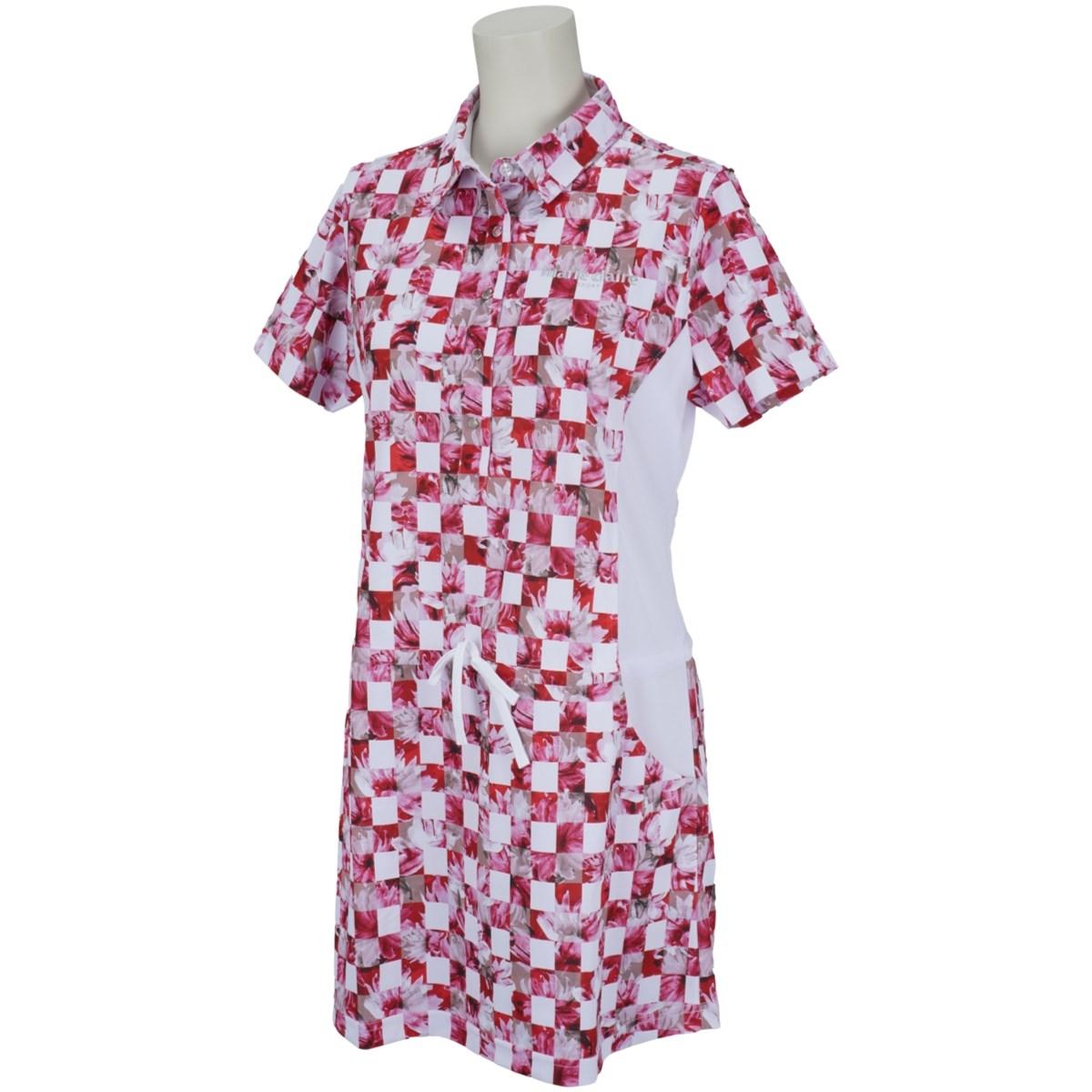 マリクレール marie claire 半袖チュニックシャツ M レッド レディス
