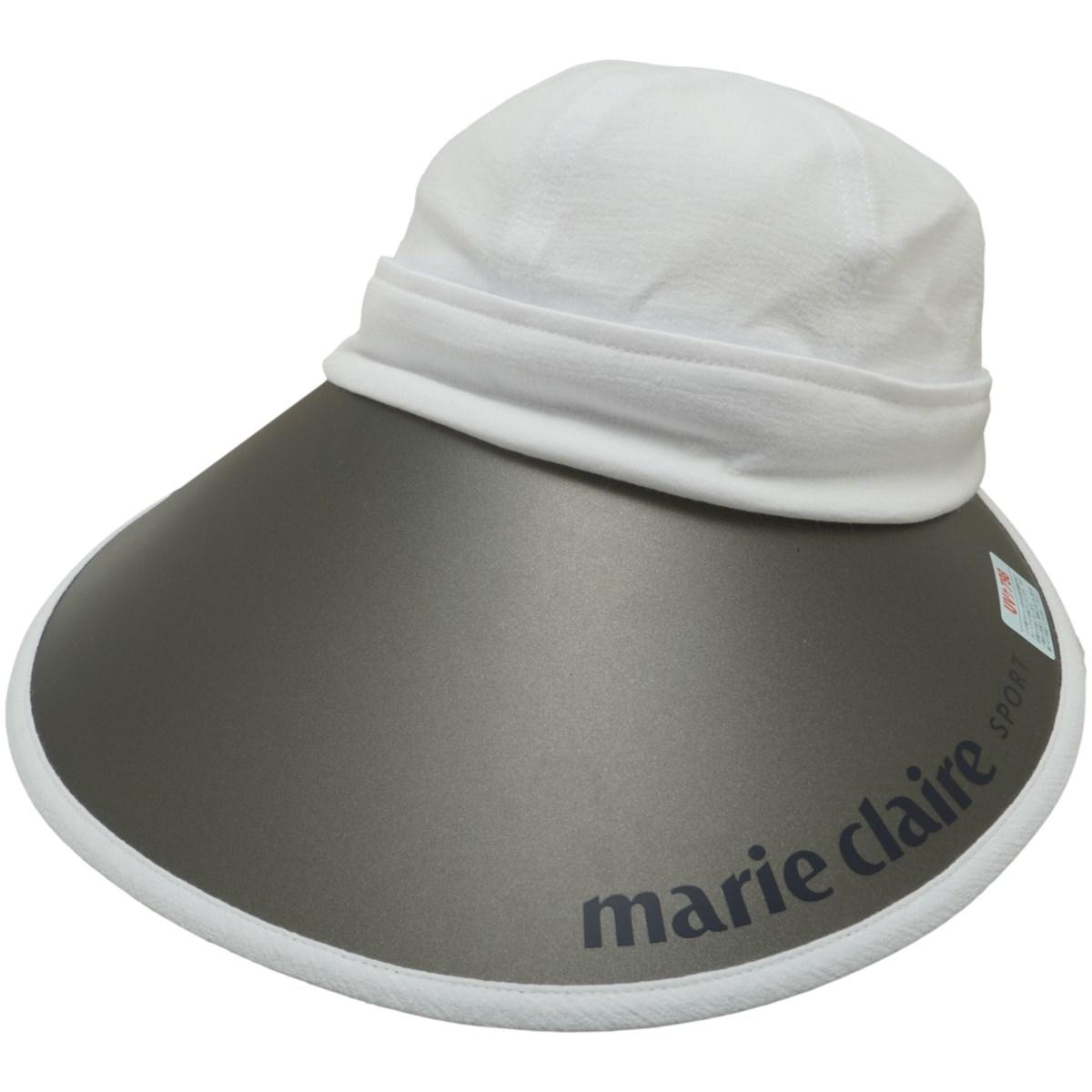 マリクレール marie claire 2WAYキャップ フリー ホワイト レディス
