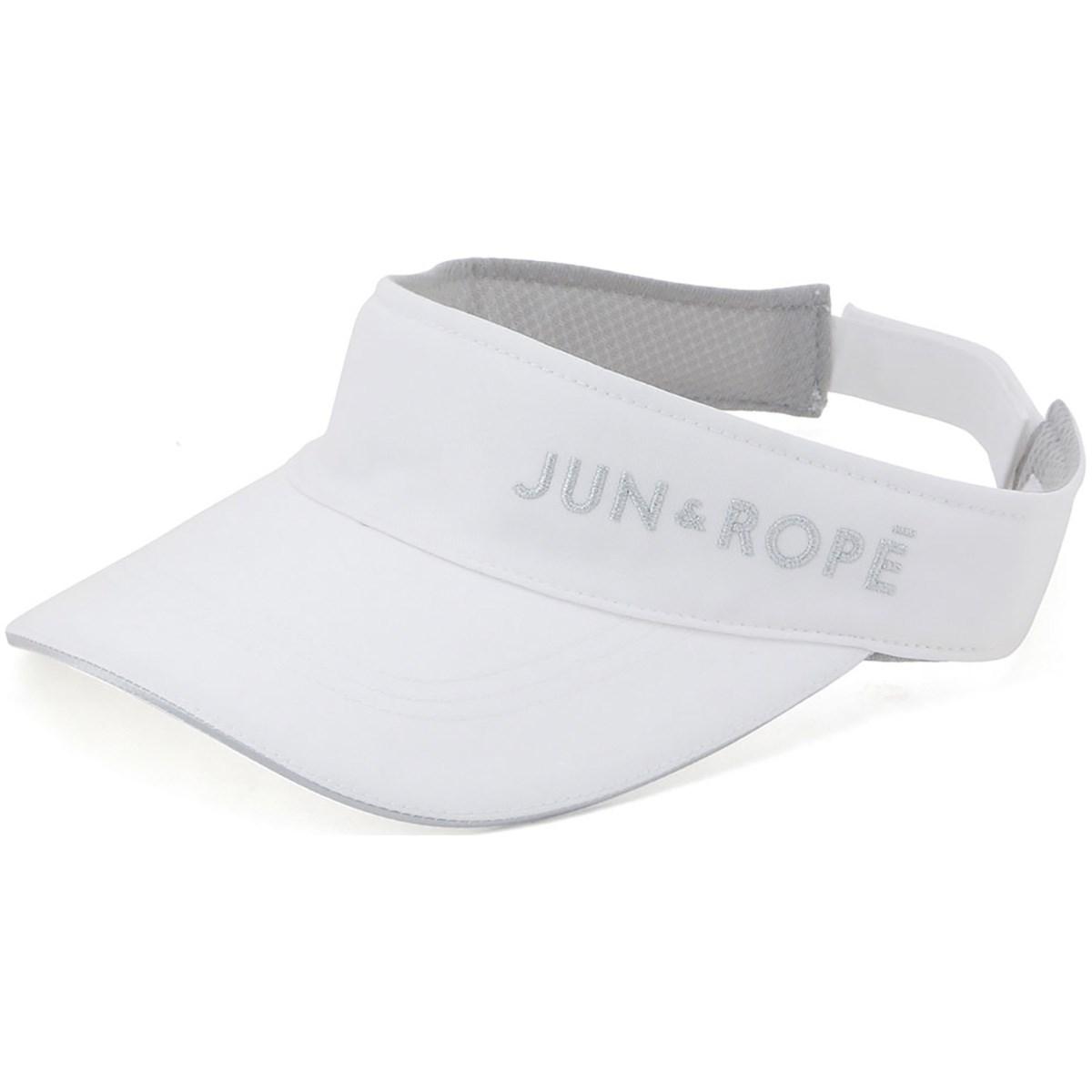 ジュン アンド ロペ JUN & ROPE 立体ラメ刺繍ロゴサンバイザー フリー ホワイト 10 レディス