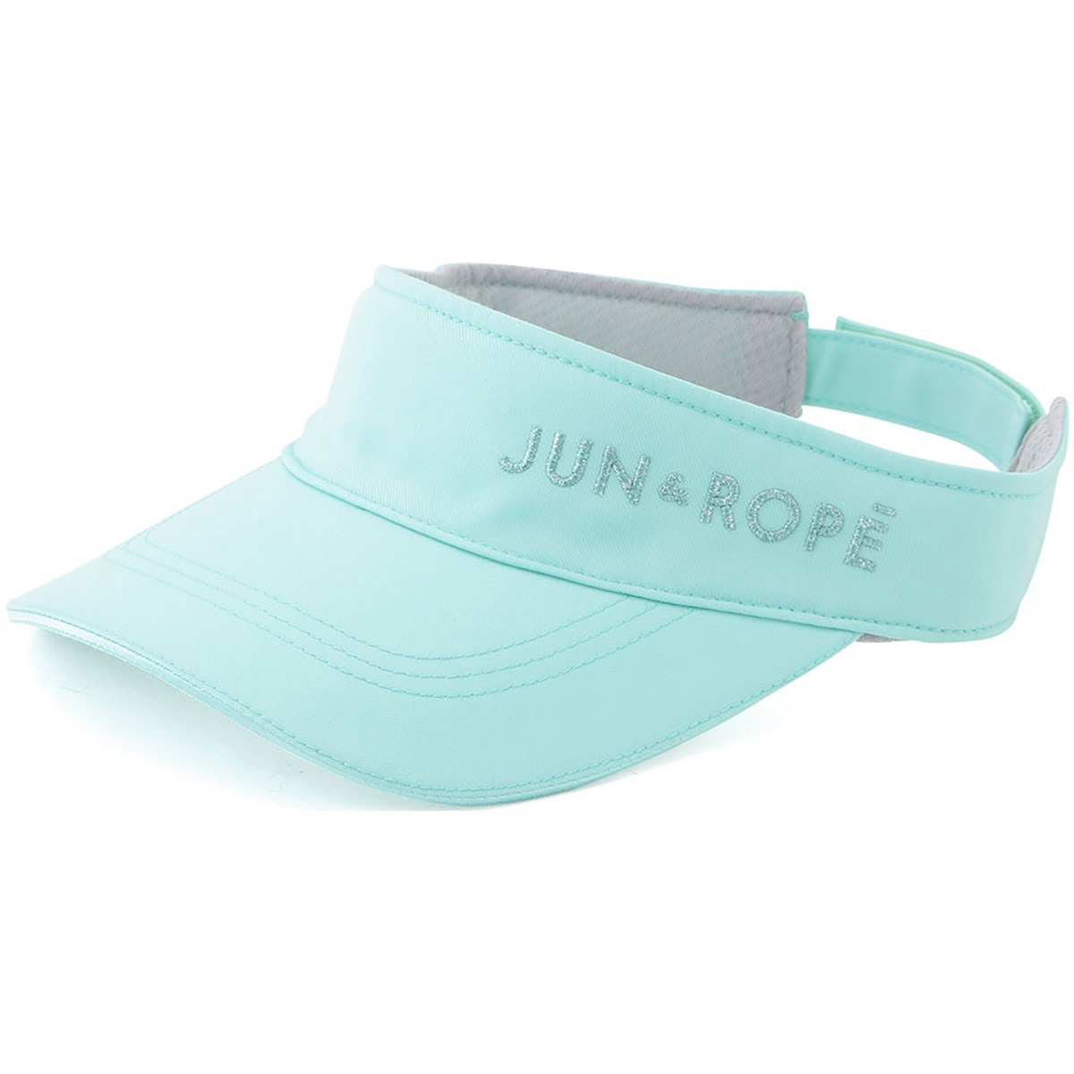 ジュン アンド ロペ JUN & ROPE 立体ラメ刺繍ロゴサンバイザー フリー ミント 33 レディス