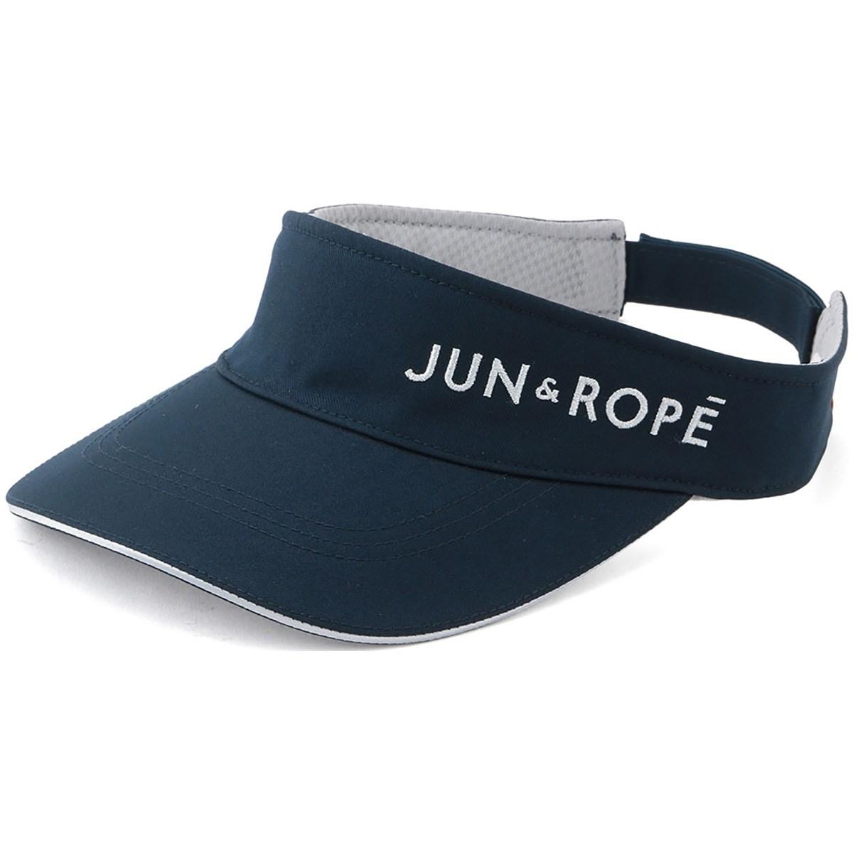 ジュン アンド ロペ JUN & ROPE 立体ラメ刺繍ロゴサンバイザー フリー ネイビー 40 レディス