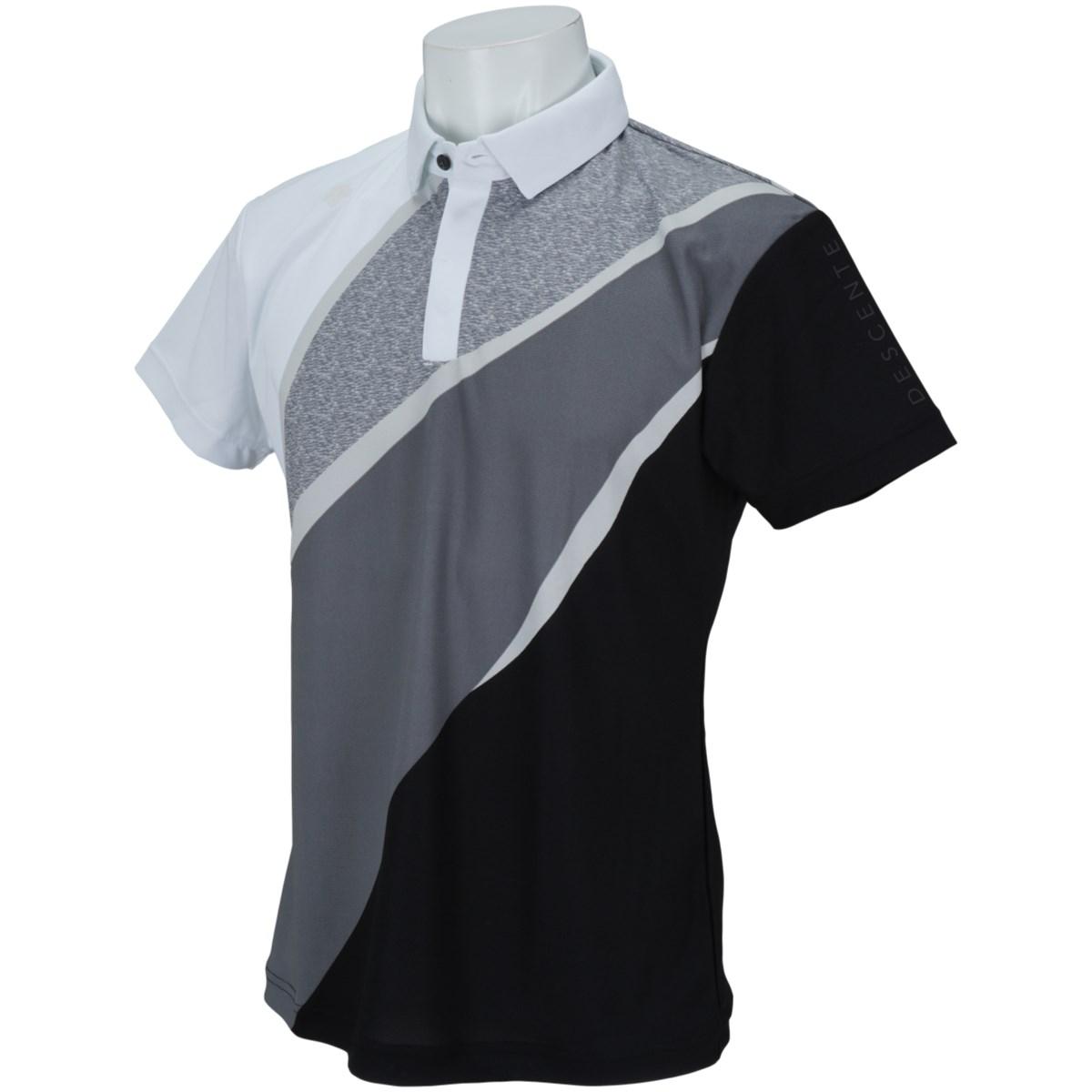 デサントゴルフ DESCENTE GOLF ECO 鹿の子UMIプリント半袖ポロシャツ L ブラック 00