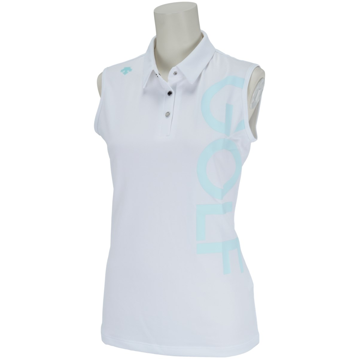 デサントゴルフ DESCENTE GOLF ECOフィールドセンサープラスロゴプリントスリーブレスポロシャツ O ホワイト 00 レディス