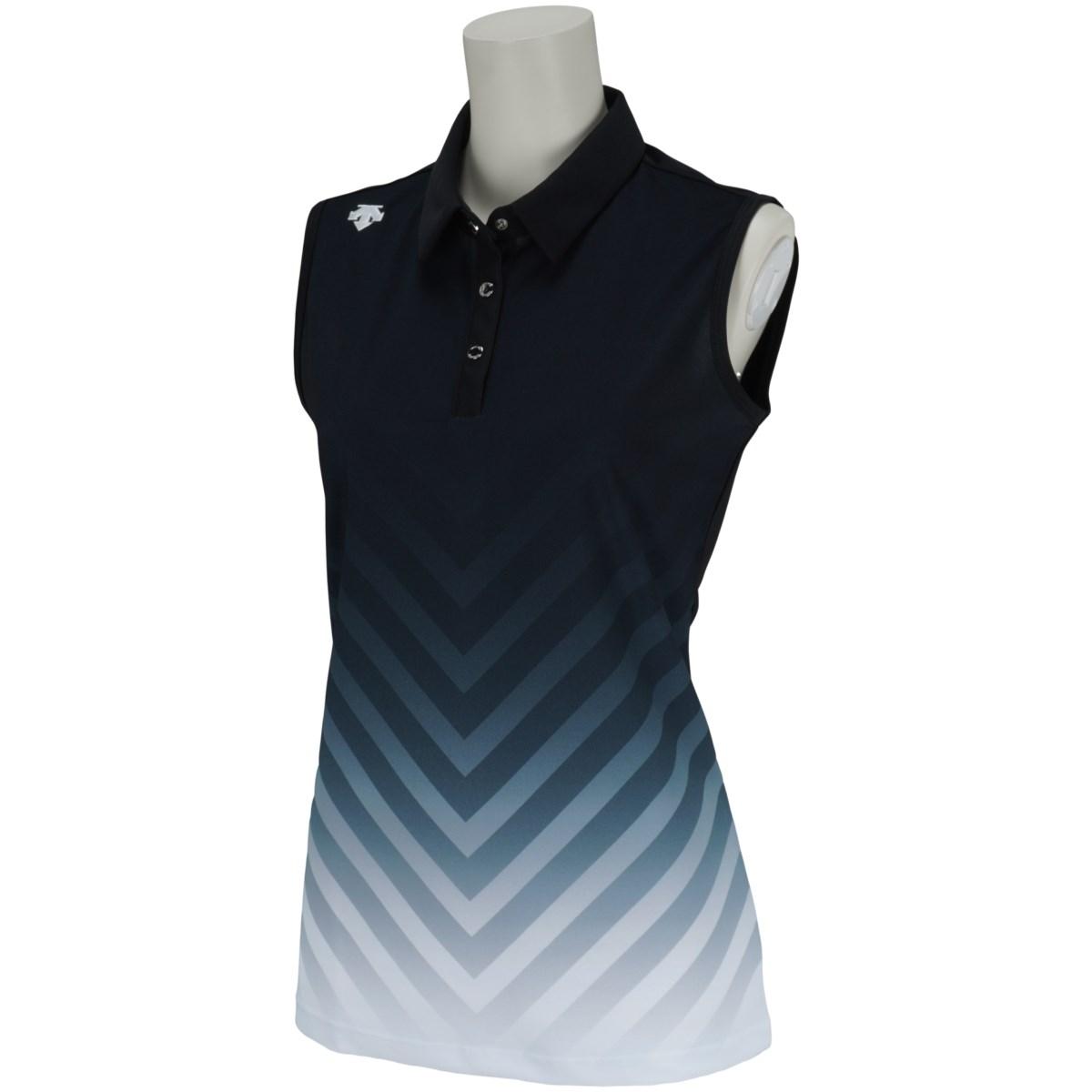 デサントゴルフ DESCENTE GOLF グラデーションプリントスリーブレスポロシャツ S ブラック 00 レディス