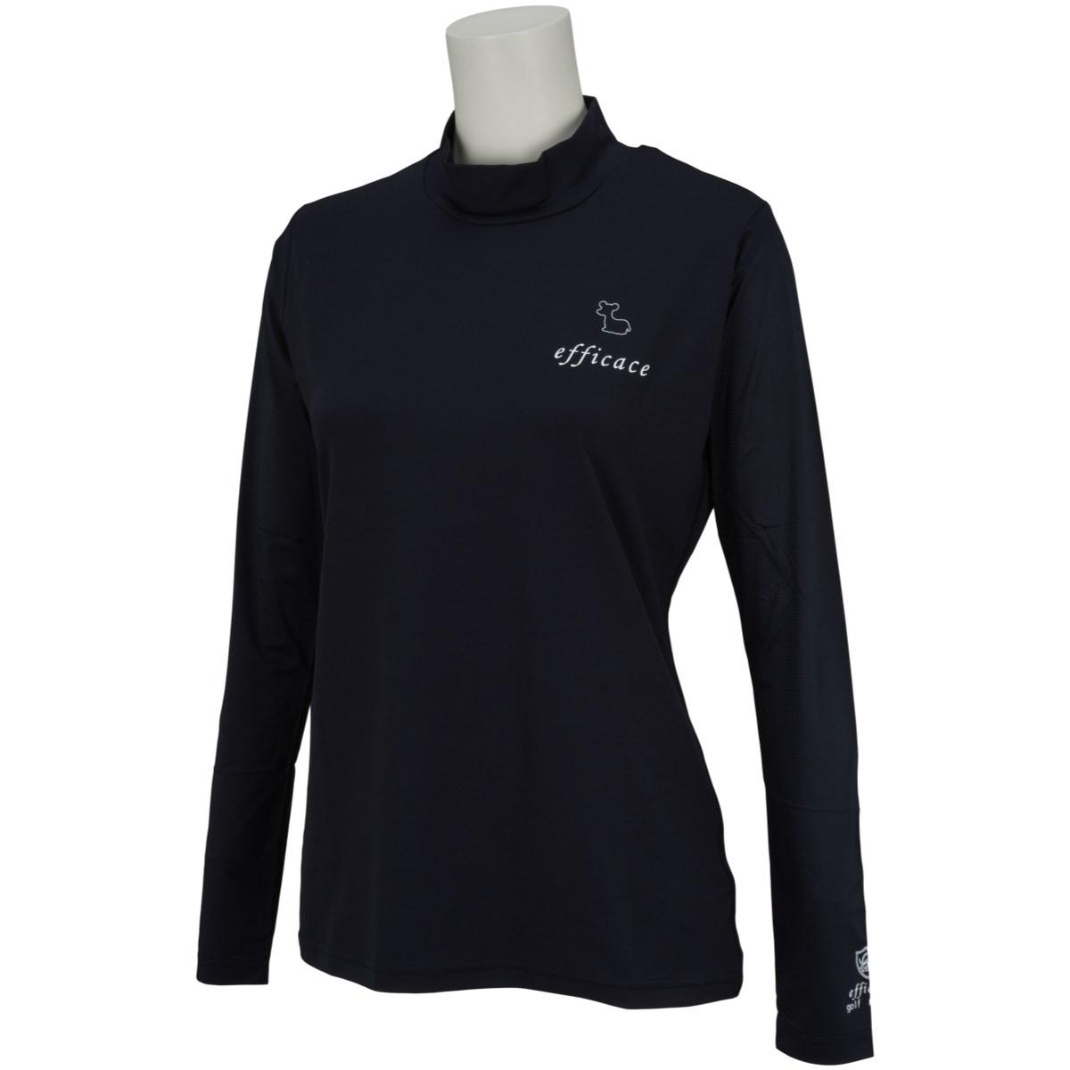 エフィカス efficace アイススキンスリーブモックネック 長袖インナーシャツ S ブラック/ブラック レディス
