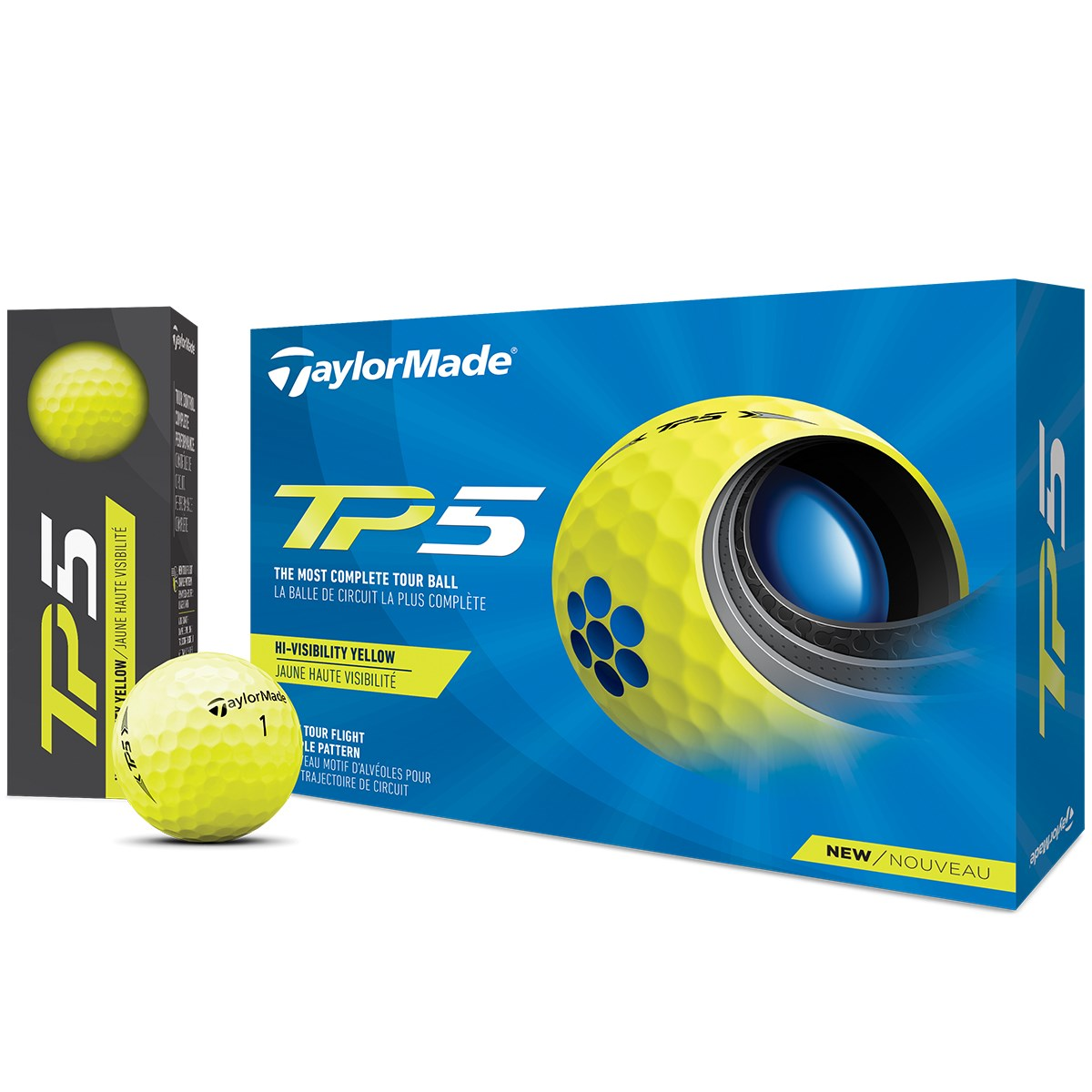 テーラーメイド TP TP5 ボール 1ダース(12個入り) イエロー