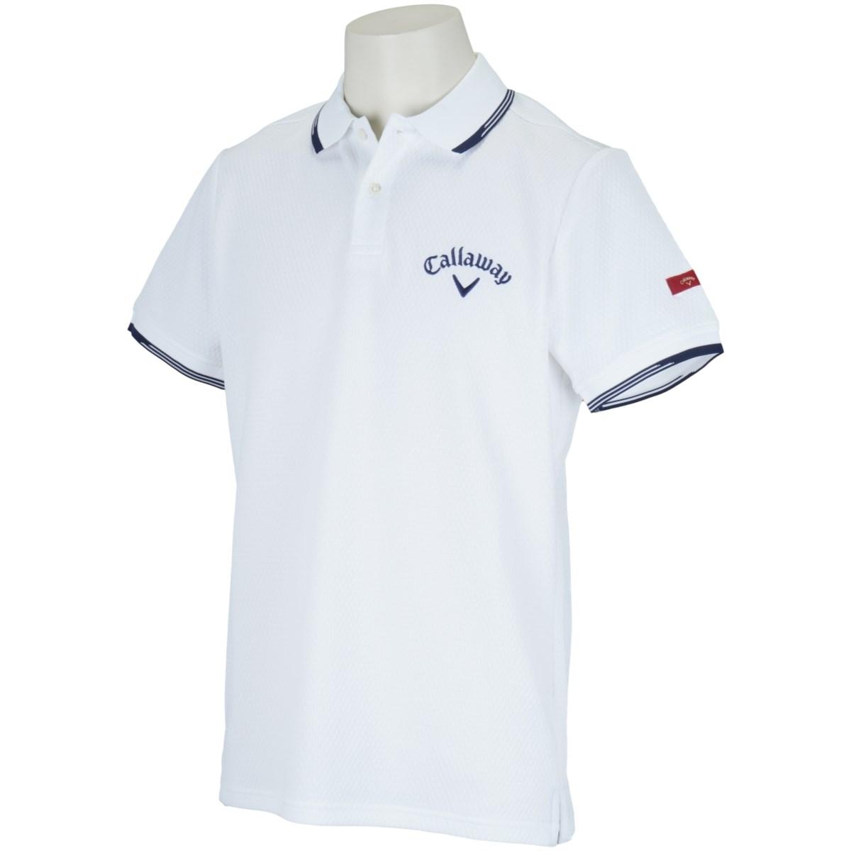 キャロウェイゴルフ CALLAWAY RED LABEL 半袖ポロシャツ M ホワイト 030