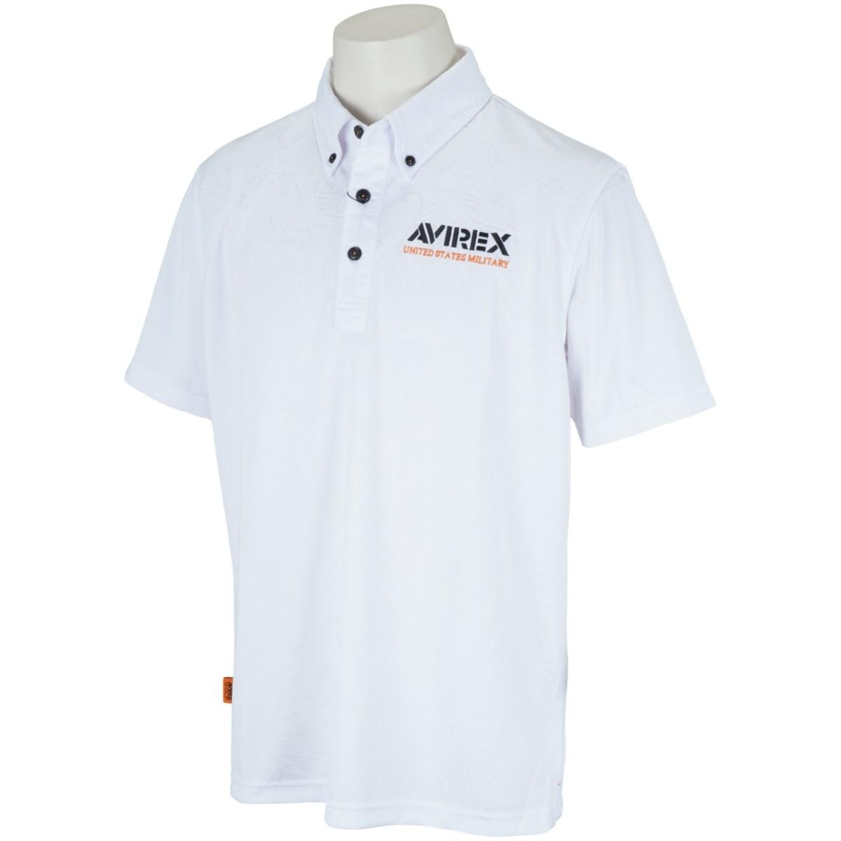 アビレックス ゴルフ AVIREX GOLF 半袖ポロシャツ M ホワイト