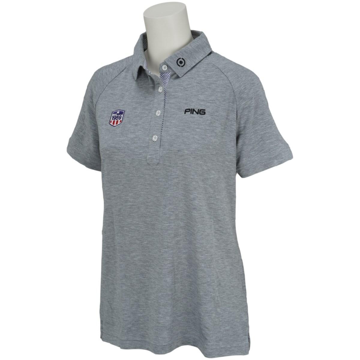 ピン PING 共襟半袖ポロシャツ S グレー 022 レディス