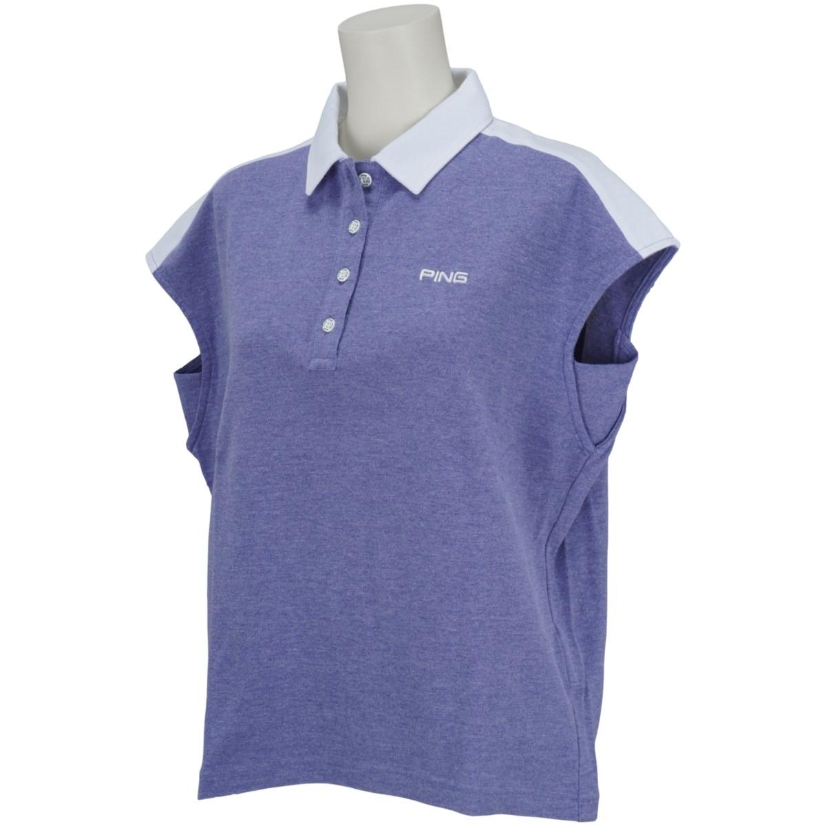 ピン PING 共襟半袖ポロシャツ S ブルー 110 レディス