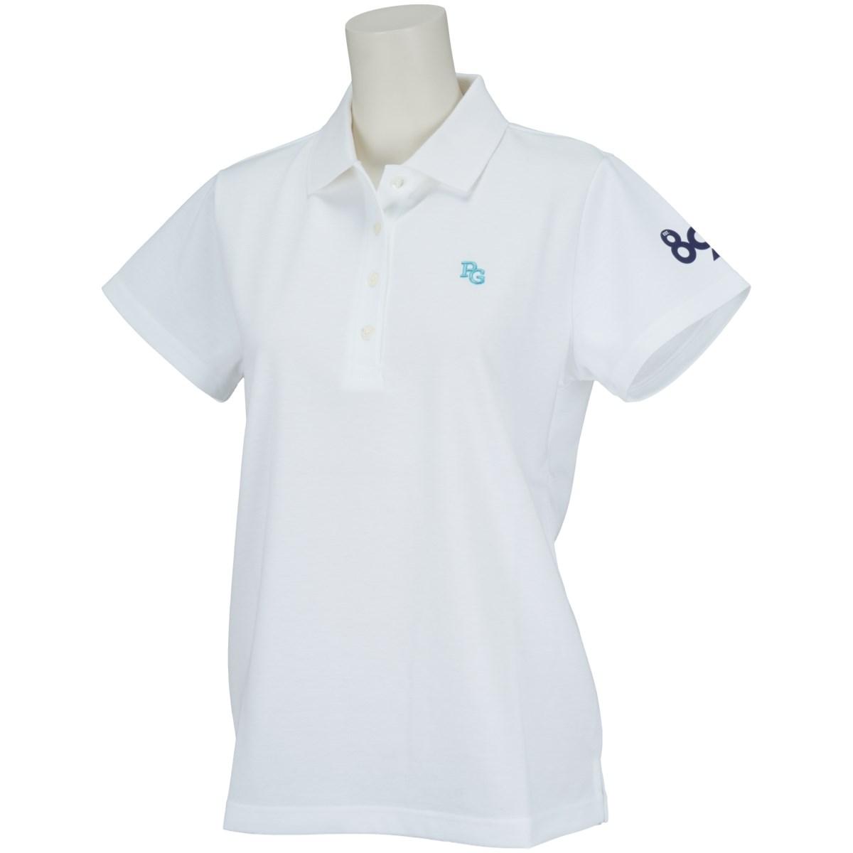 [2021年春夏モデル] パーリーゲイツ PEARLY GATES ポンチローマ半袖ポロシャツ ホワイト 030 レディース ゴルフウェア
