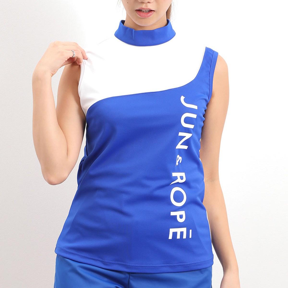 ジュン アンド ロペ JUN & ROPE UV・接触冷感・防透 ワンショルカラーコンビプルオーバー S ブルー 44 レディス