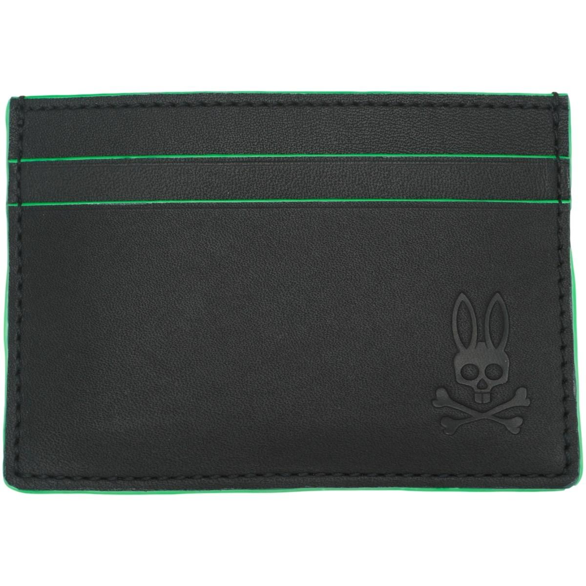 サイコバニー PSYCHO BUNNY グリーン ネオンカラーパスケース ブラック/ネオングリーンエッジ 400