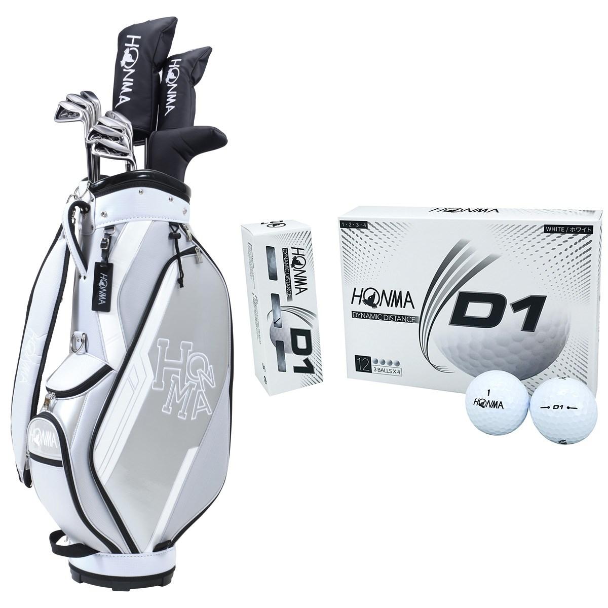 本間ゴルフ HONMA D1 オールインワンセット(10本セット)+ボール1ダースセット S 【クラブセット】グレー/【ボール】ホワイト