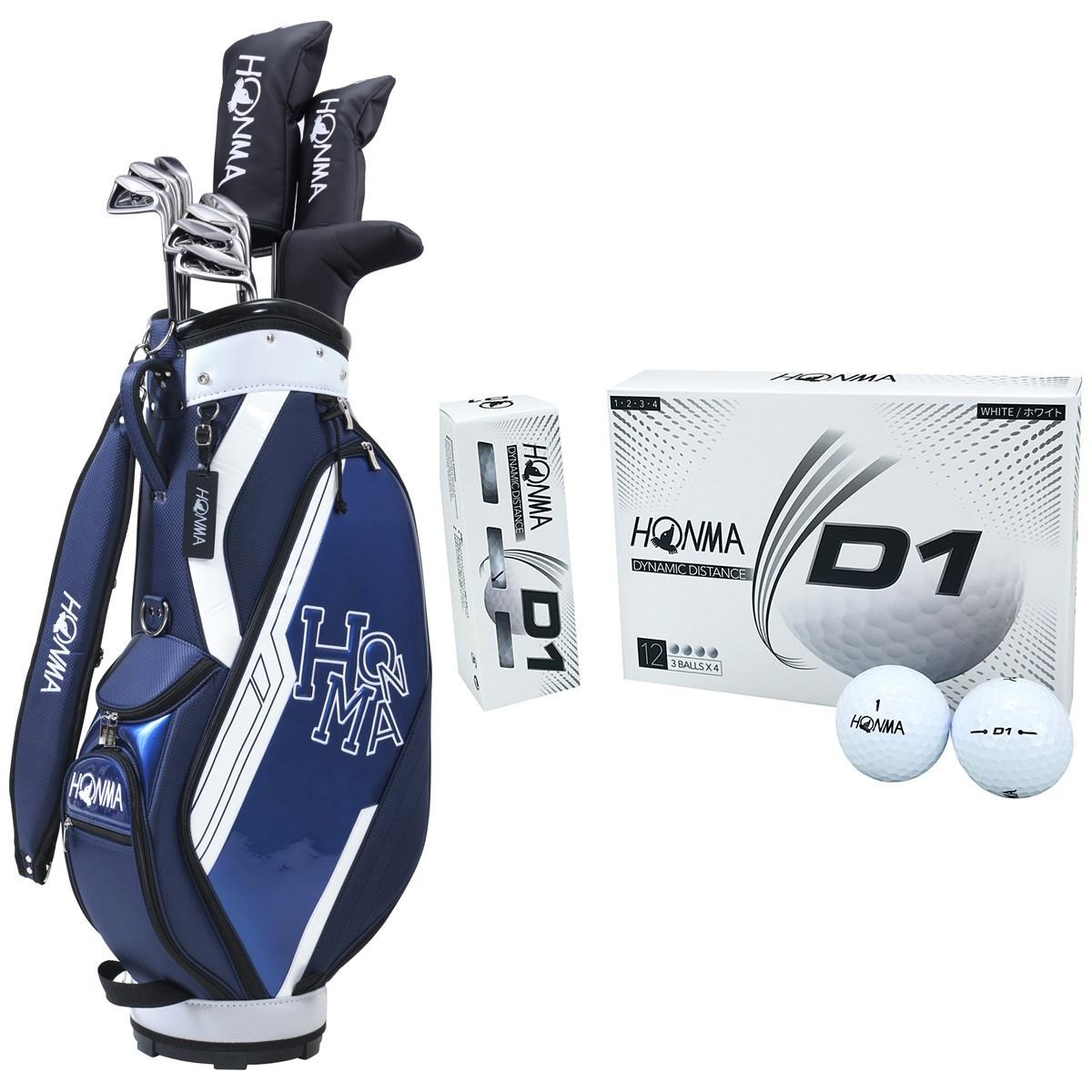 本間ゴルフ HONMA D1 オールインワンセット(10本セット)+ボール1ダースセット R 【クラブセット】ネイビー/【ボール】ホワイト