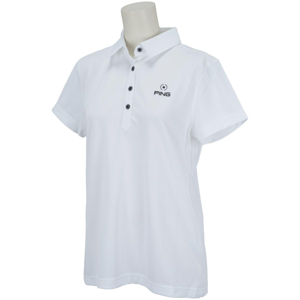 ピン PING 半袖ポロシャツ S ホワイト 030 レディス