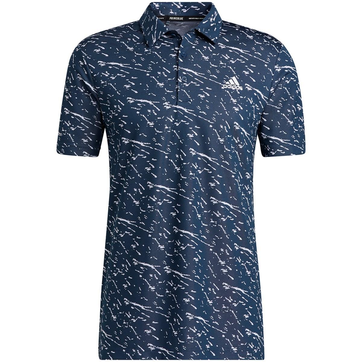 アディダス Adidas プライムブルー 半袖ポロシャツ J/XO クルーネイビー/ホワイト