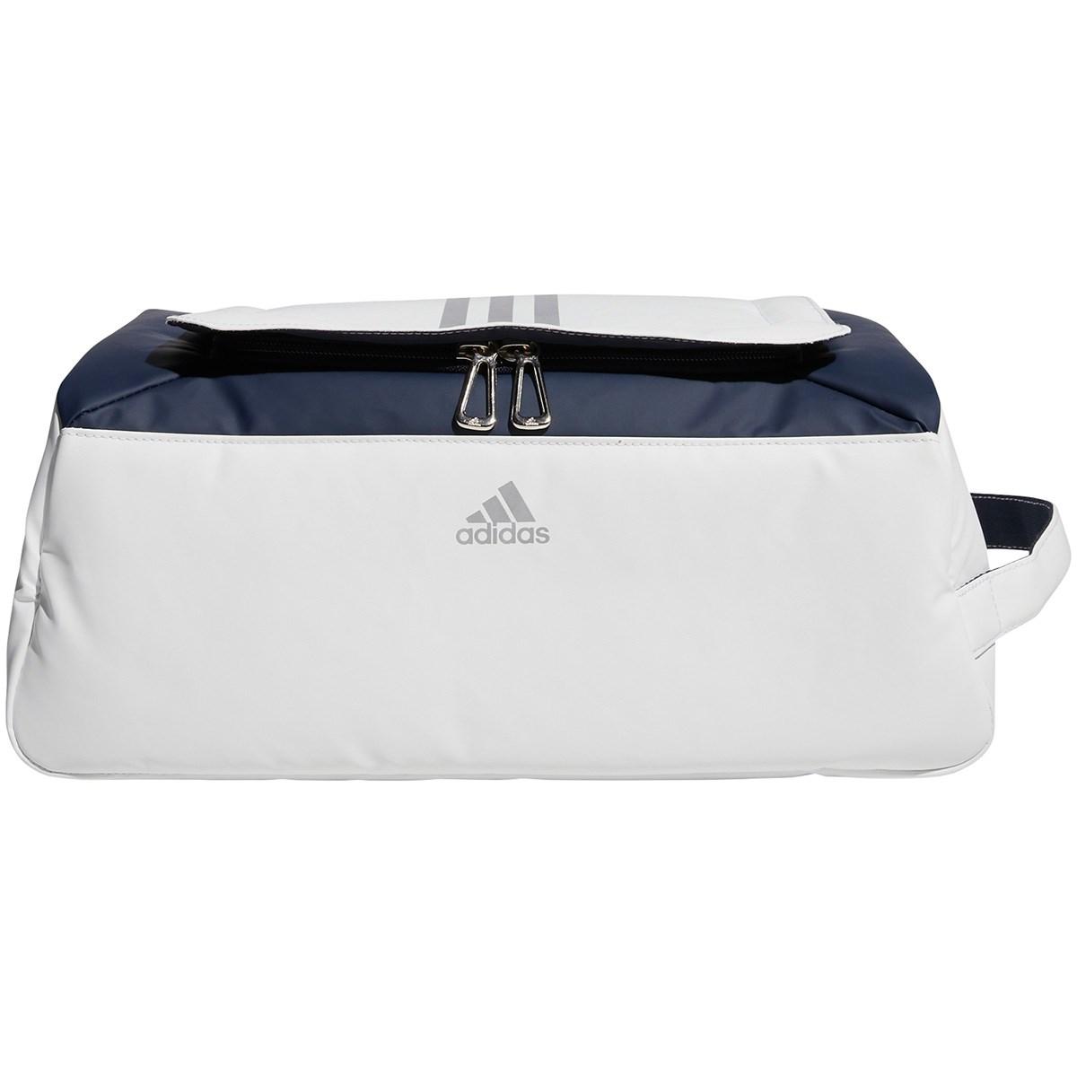 アディダス Adidas シルバーロゴ リサイクル シューズバッグ ホワイト