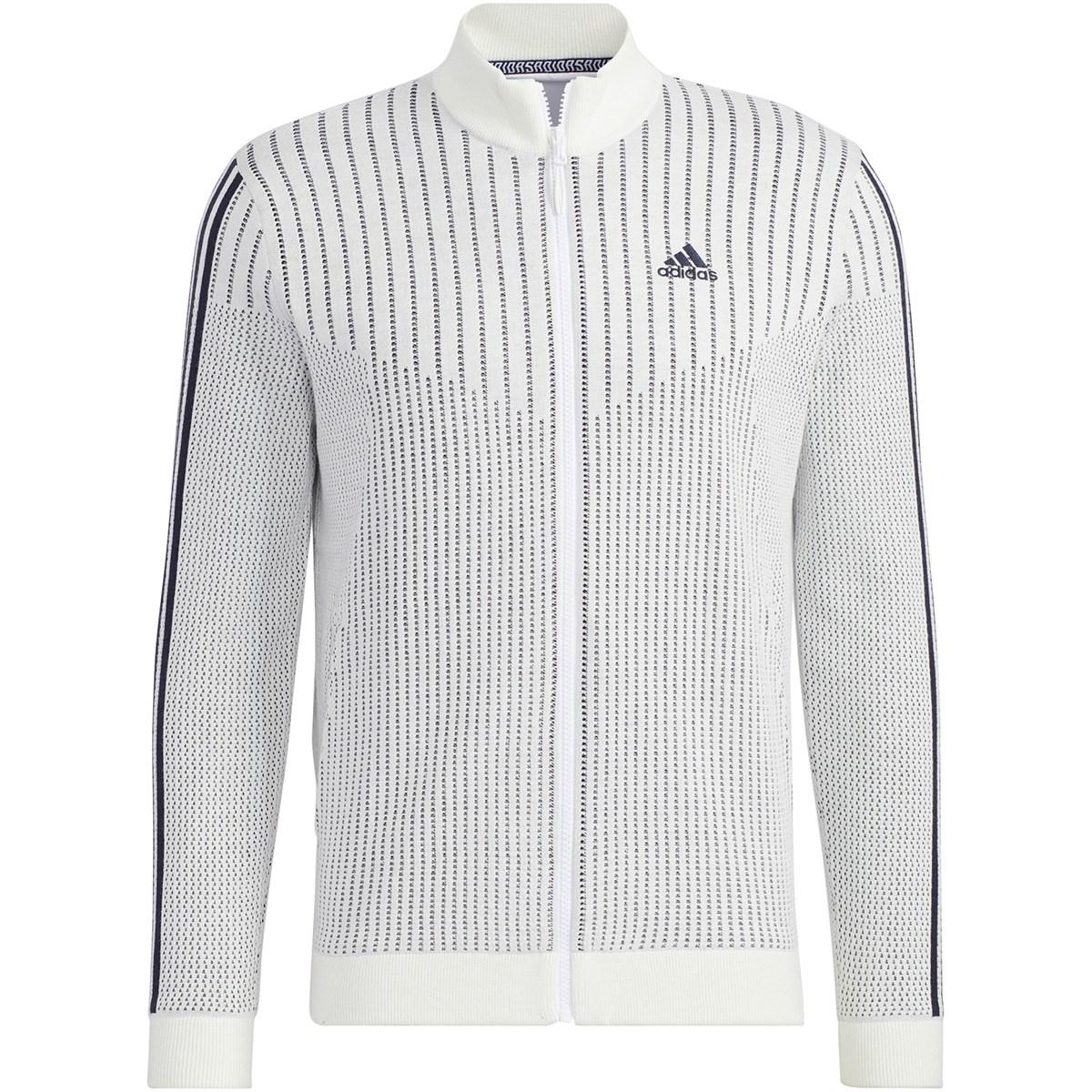 アディダス Adidas スリーストライプス 防風 長袖ライニングフルジップセーター J/M ホワイト