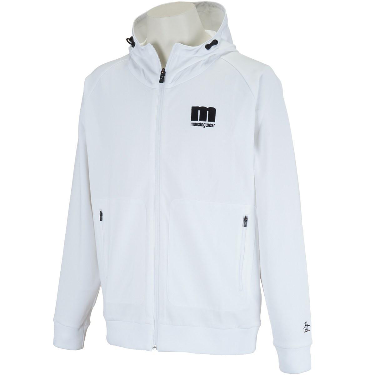 マンシングウェア Munsingwear ENVOY ハイブリッド前開きフルジップパーカー M ホワイト 00