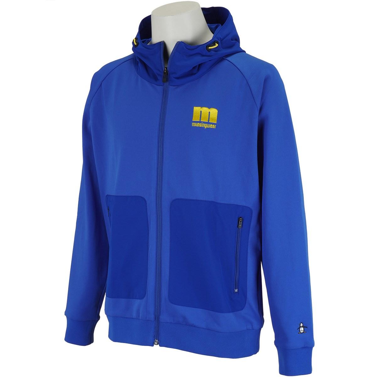 マンシングウェア Munsingwear ENVOY ハイブリッド前開きフルジップパーカー M ブルー 00