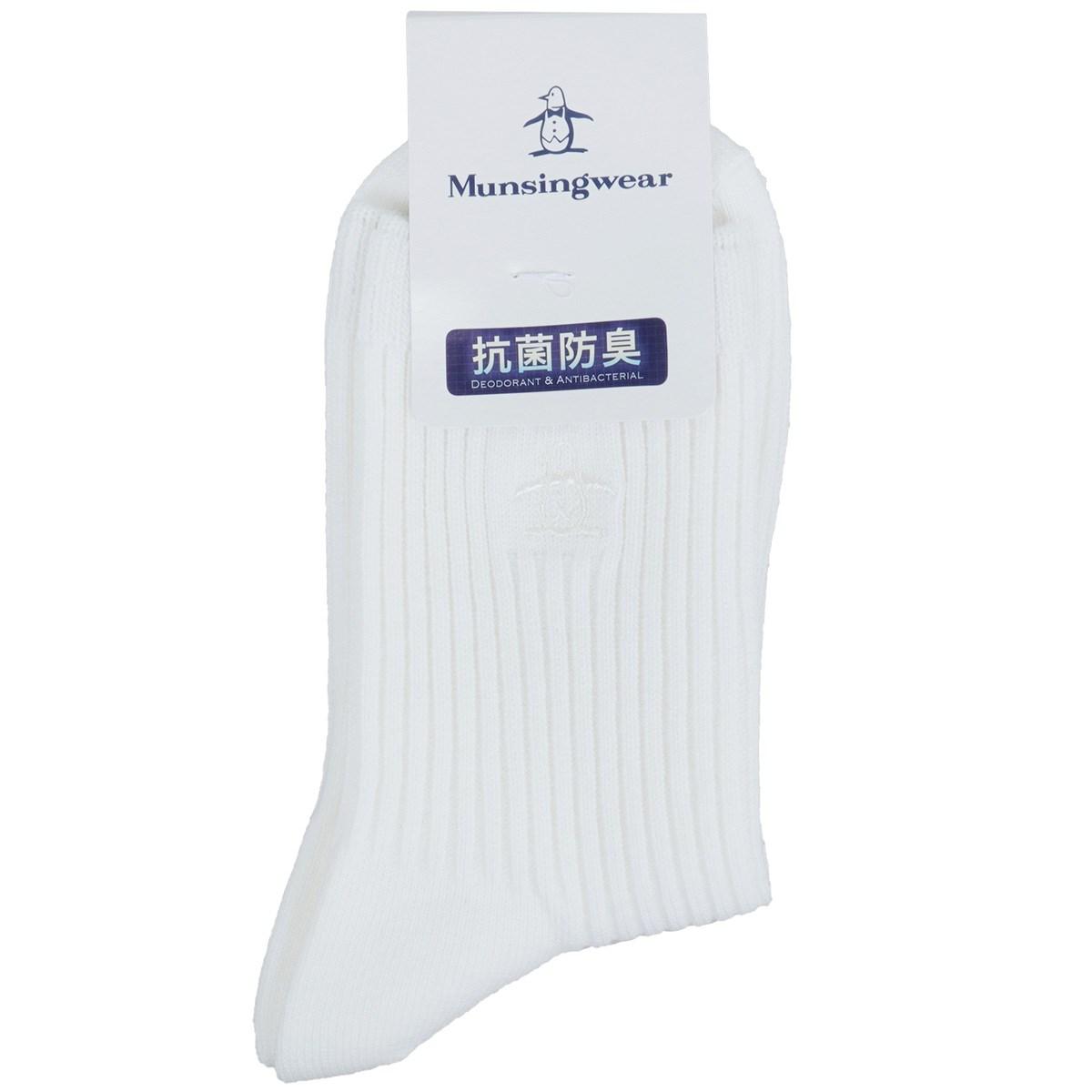 マンシングウェア Munsingwear クルーソックス フリー ホワイト 00 レディス