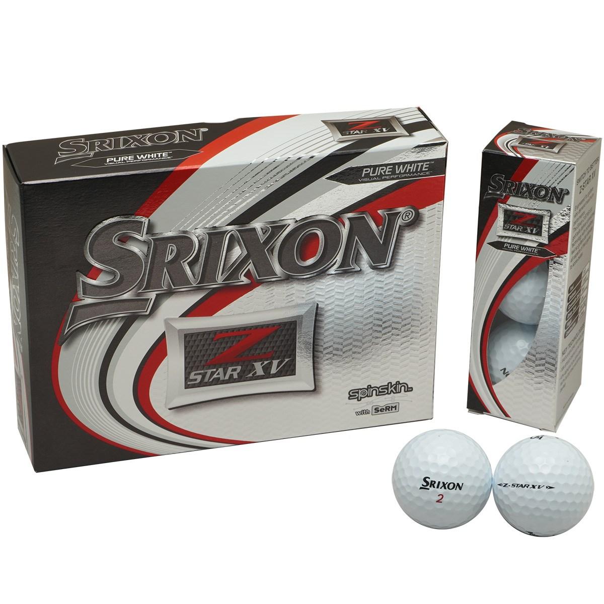 ダンロップ SRIXON Z-STAR XV6 ボール 1ダース(12個入り) ホワイト 【USモデル】