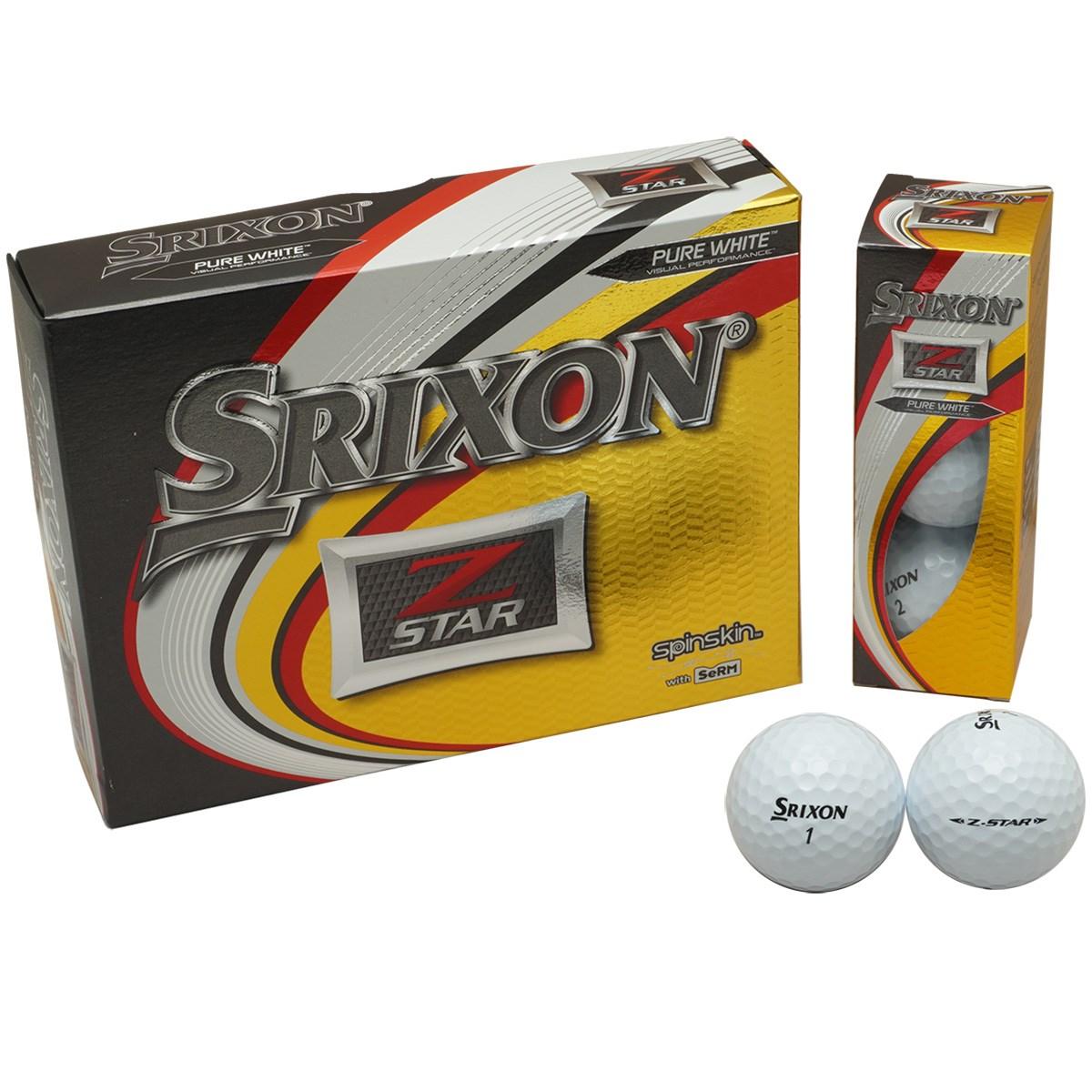 ダンロップ SRIXON Z-STAR6 ボール 1ダース(12個入り) ホワイト 【USモデル】