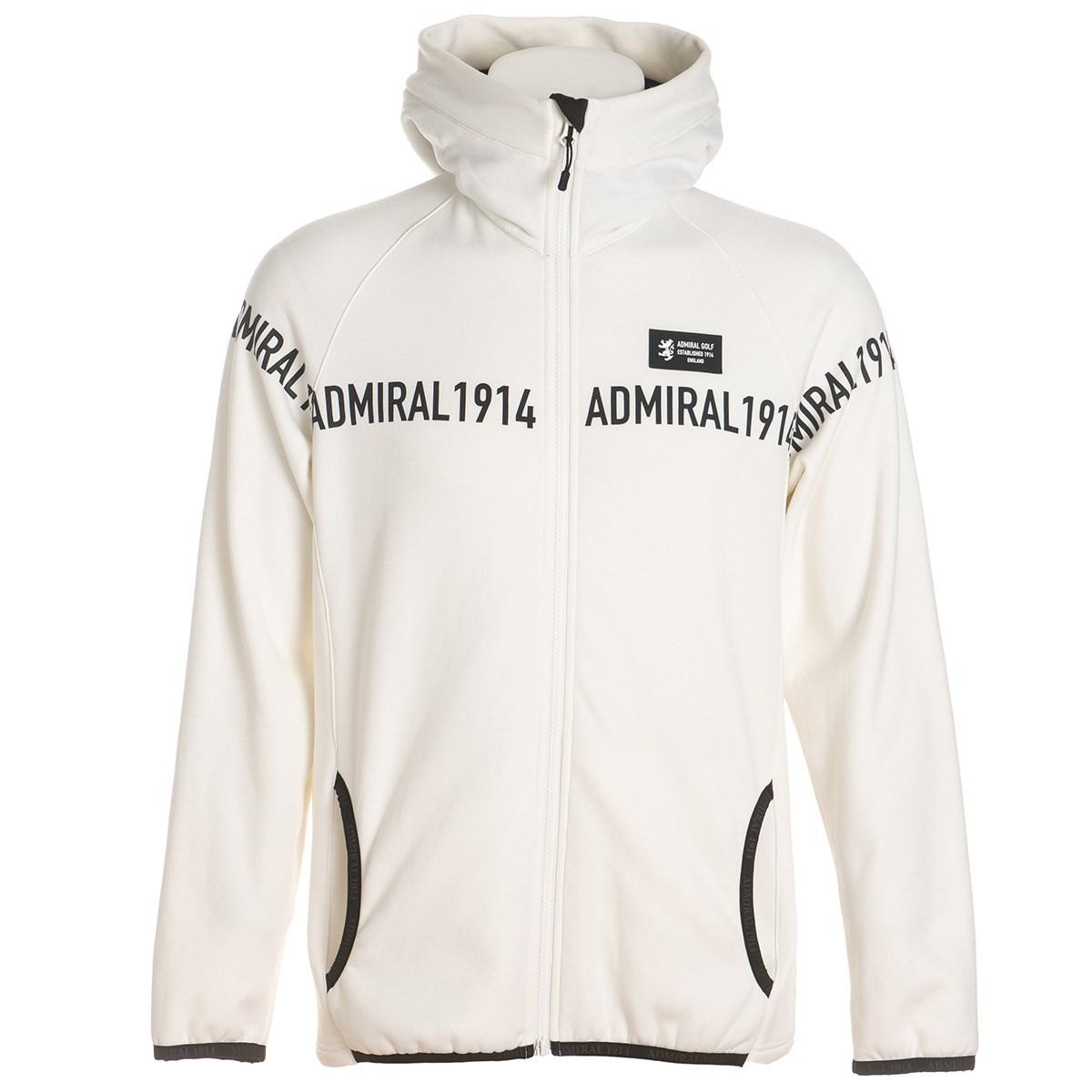 アドミラル Admiral ロゴ ストレッチフリース フーディージャケット M ホワイト 00