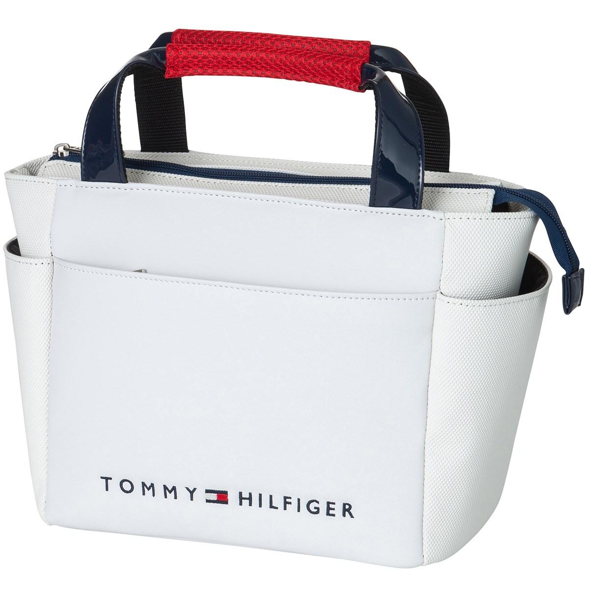 トミー ヒルフィガー ゴルフ TOMMY HILFIGER GOLF トライアングルエンボス ラウンドバッグ ホワイト 00