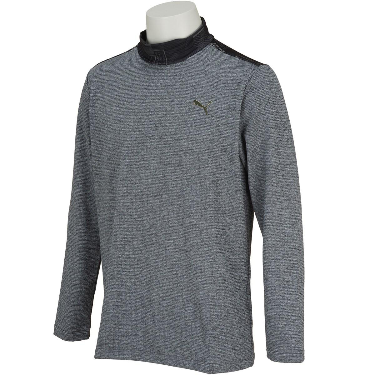 プーマ PUMA アーカイブ 裏起毛長袖モックネックシャツ L プーマ ブラック 01