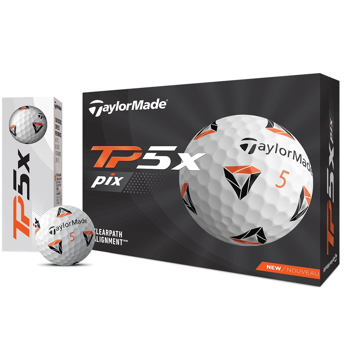 テーラーメイド TP TP5x pix ボール 3ダースセット 3ダース(36個入り) ホワイト