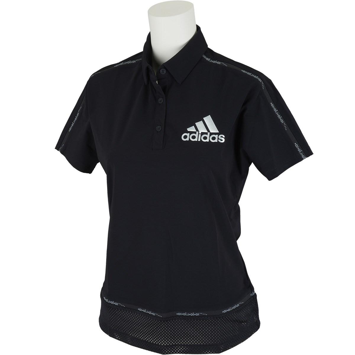 アディダス Adidas ラインド半袖ポロシャツ J/S ブラック レディス