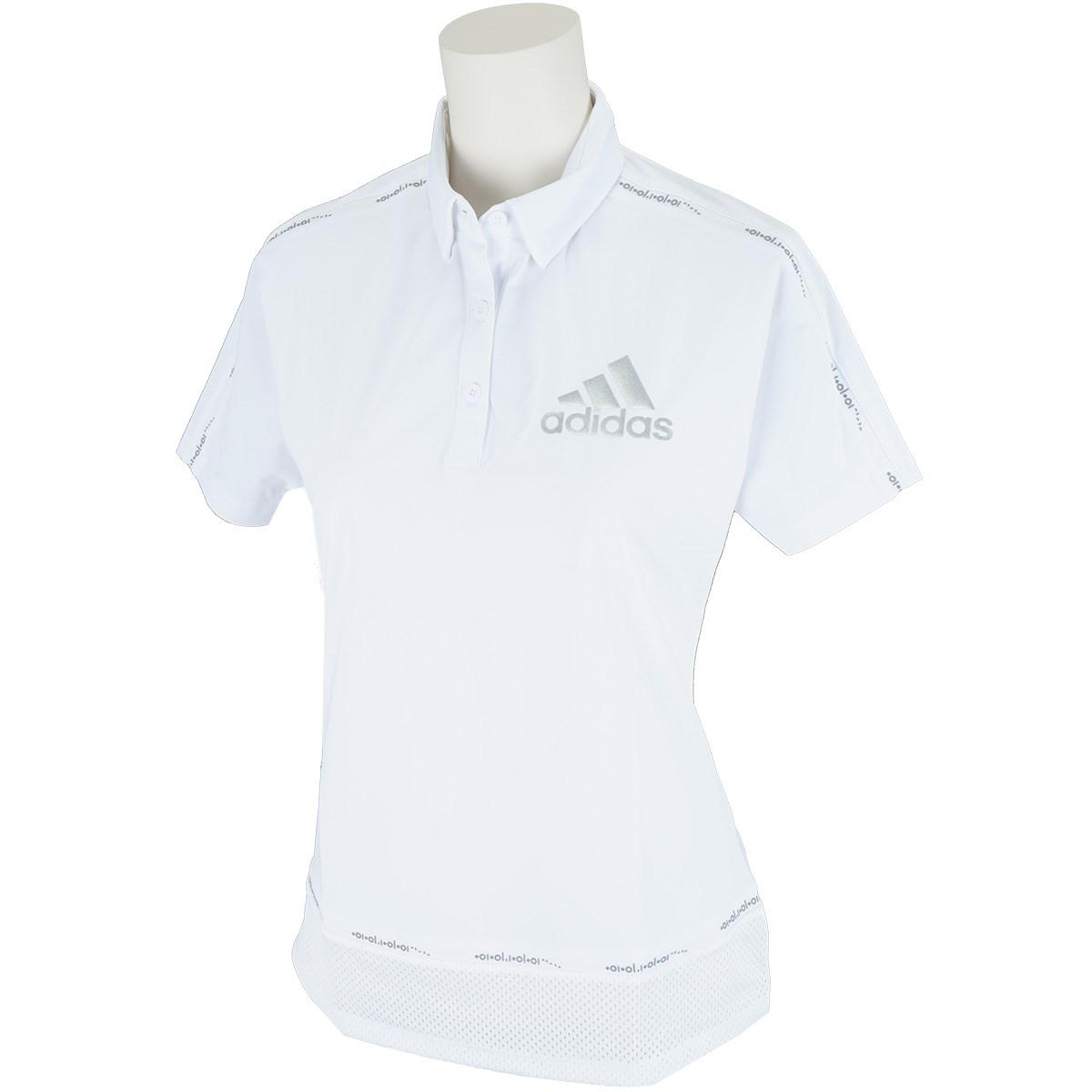 アディダス Adidas ラインド半袖ポロシャツ J/S ホワイト レディス