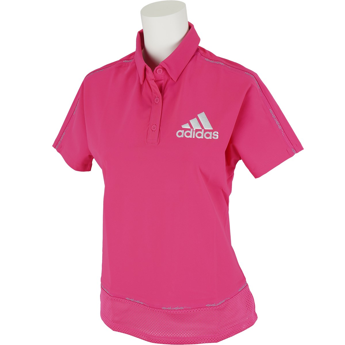 アディダス Adidas ラインド半袖ポロシャツ J/S リアルマジェンダ レディス