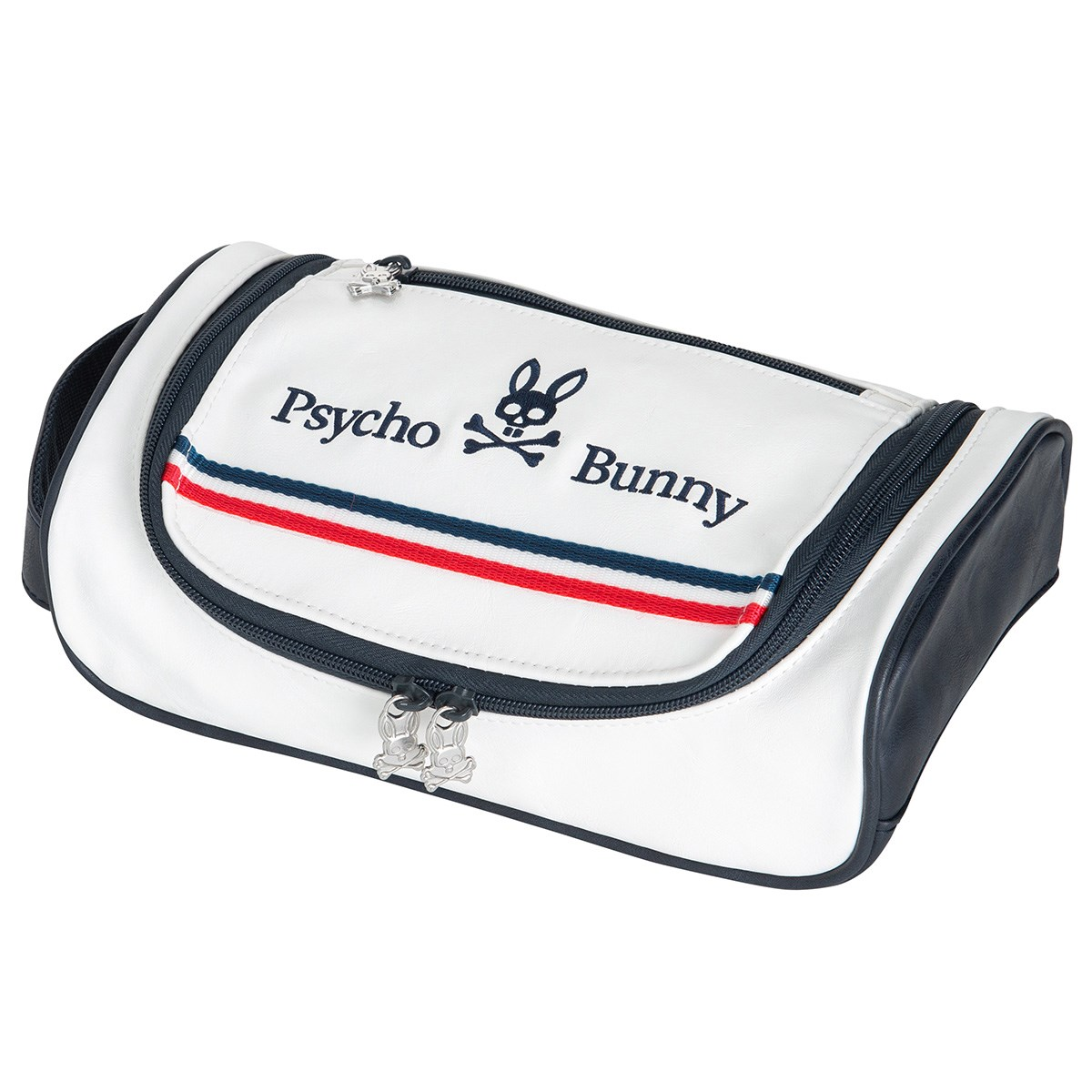 サイコバニー PSYCHO BUNNY FLAG ポーチ ホワイト 00