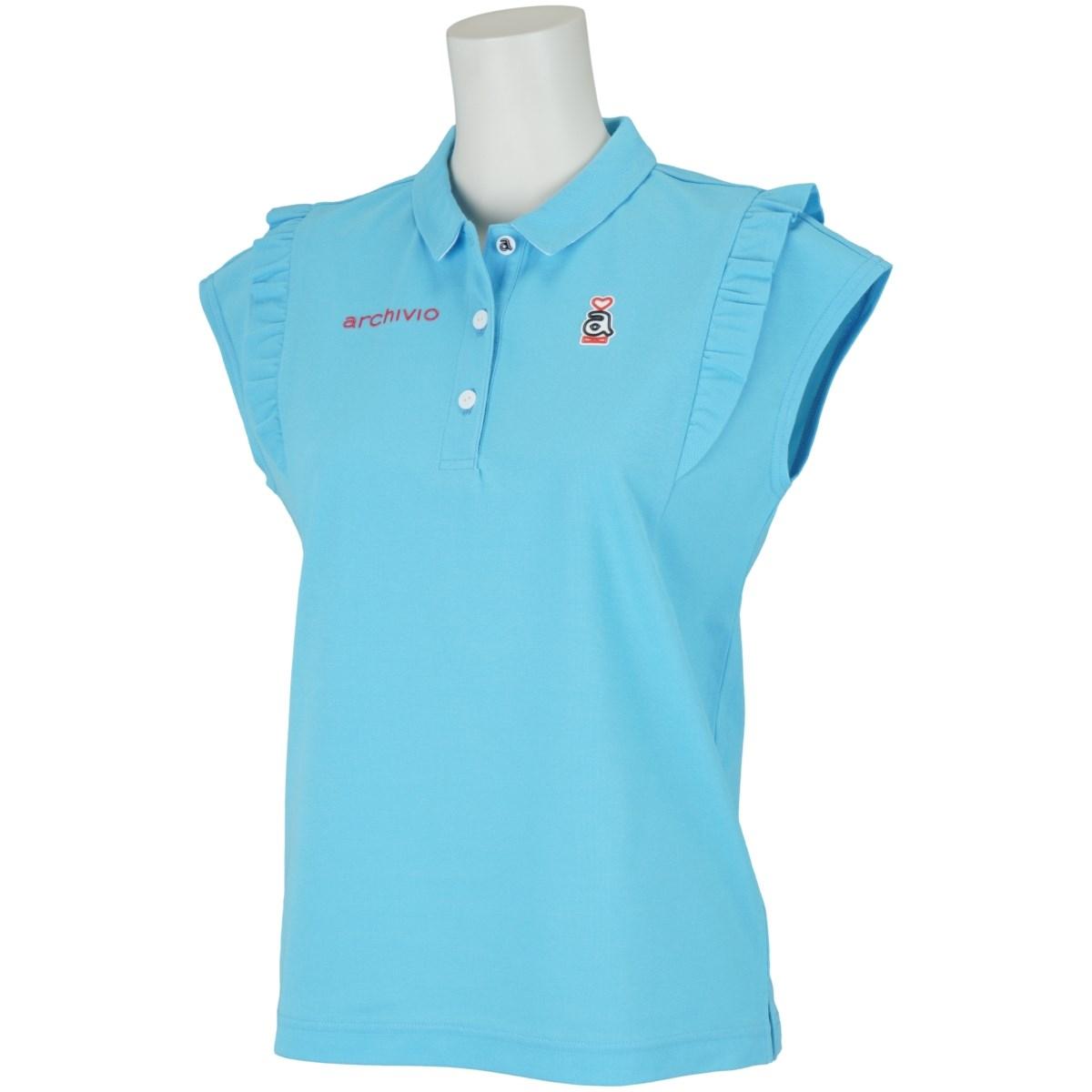 アルチビオ archivio フレンチスリーブポロシャツ 36 ブルー 069 レディス