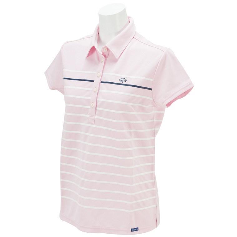 半袖共衿ボーダーシャツ T211266 レディス